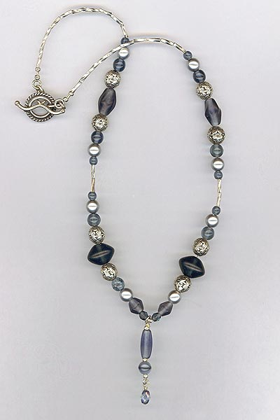montana blue silver necklace
