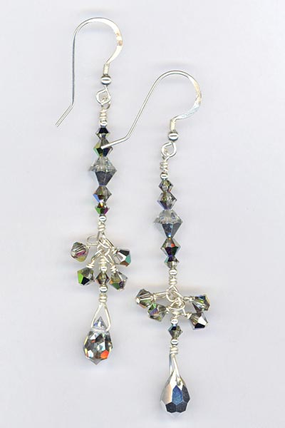 silver splendor long crystal