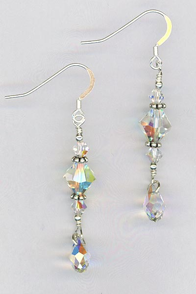 crystal stack drop earrings