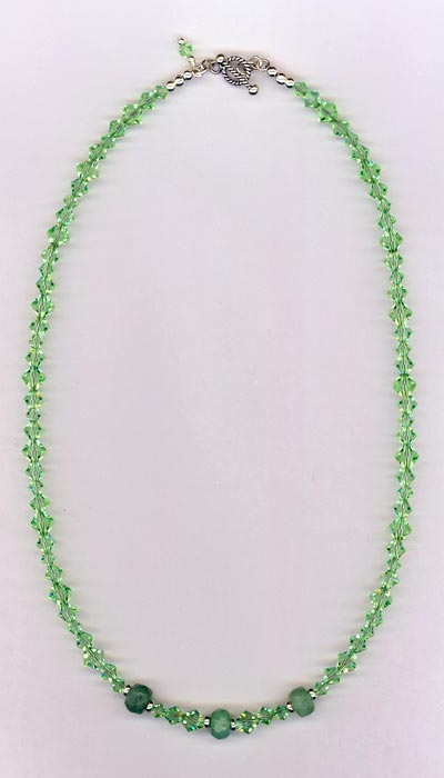 avertine gemstone necklace