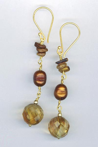 volcan cherry quartz gv earrings
