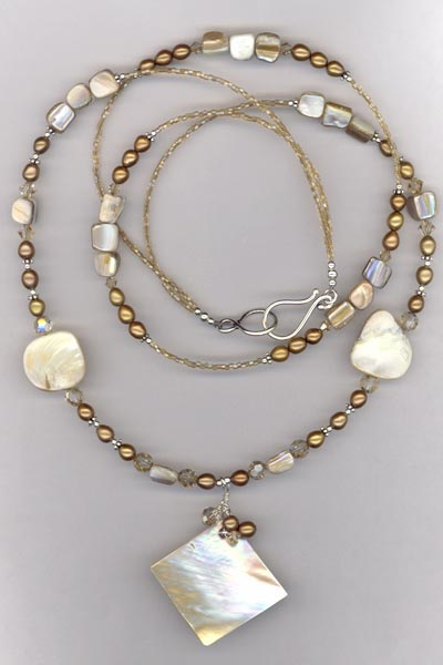 MOPearl 2 layer necklace