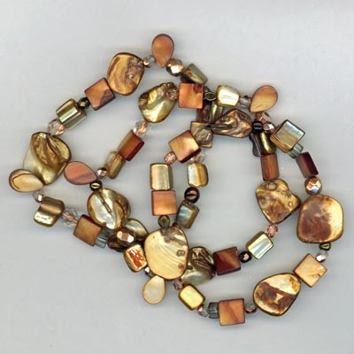 Copper Pearl triple stretch bracelet