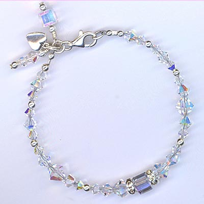 Crystal Bracelet w/ charms