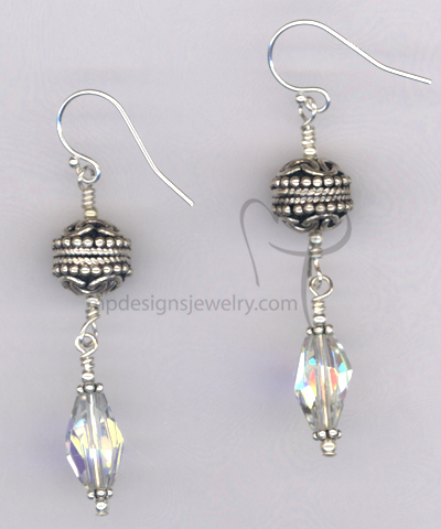 Bali SS Crystal Drop Earrings