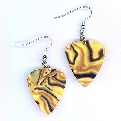 guitar pick tiger eye swirl