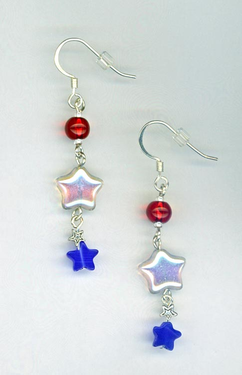 Red White Blue Patriotic earrings