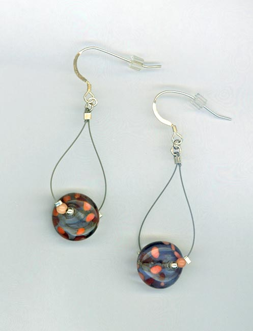 Peach blue LW earrings