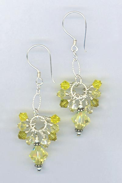 Cascade Cluster Jonquil Earrings