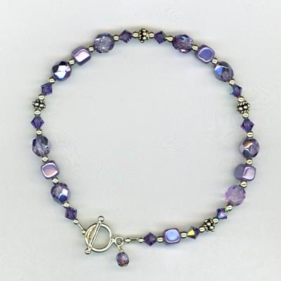 tanzanite crystal mom bracelet