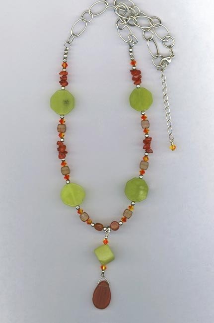 lime carnelian necklace
