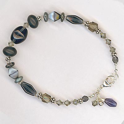Midnight Blue crystal bracelet