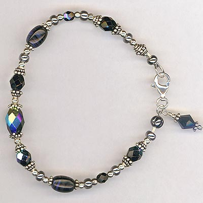 midnight blue 2 crystal bracelet