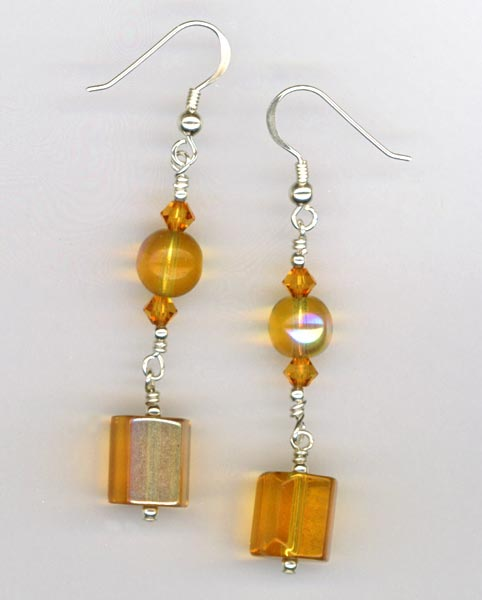 Buffalo Gal ~ Topaz Earrings