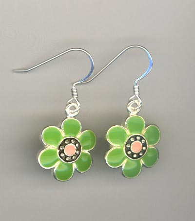 Daisy Delight Green~ Earrings