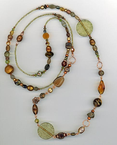 Olive Garden ~ Copper Necklace