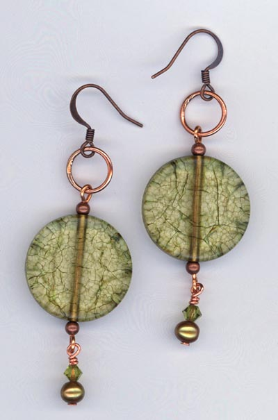 Olive Garden ~ Copper Earrings