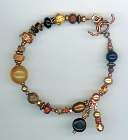 Artisan Gemstone Copper Bracelet