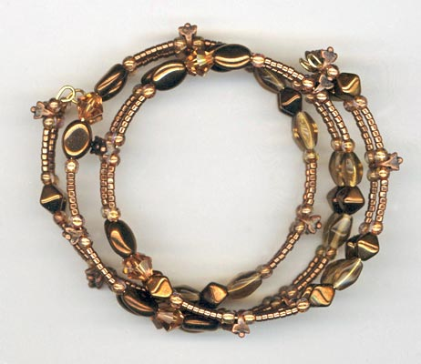 Copper Mix Memory Wire Bracelet