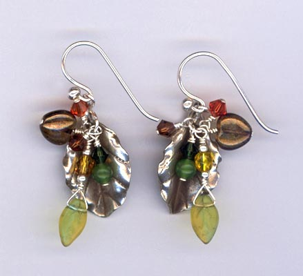 falling leaves HT earrings