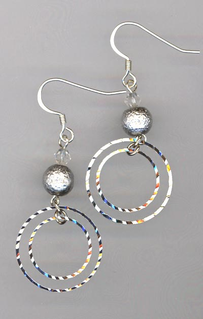 silver sparkle 2 earrings