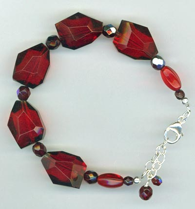 ruby quartz nugget bracelet
