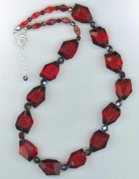 ruby quartz nugget necklace