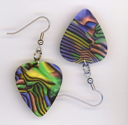 stained glass gp earrings
