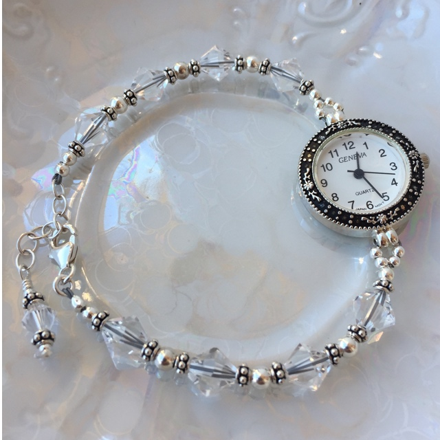 Bridal crystal Sterling watch