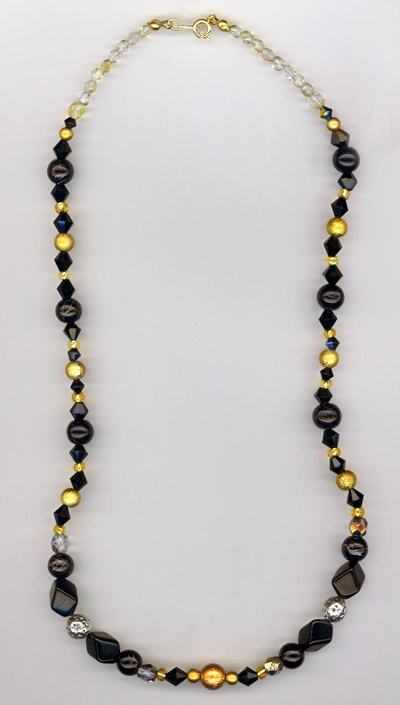 black gold holiday necklace