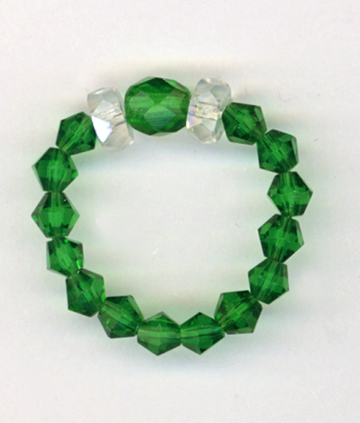 emerald green stretch ring