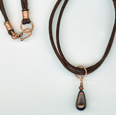 copper choc necklace