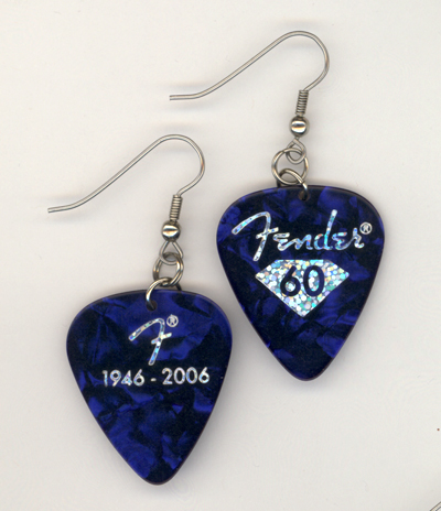 blue fender ltd gp earring