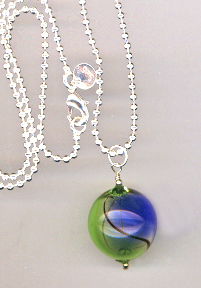 Meadow Sky Handblown Glass Pendant