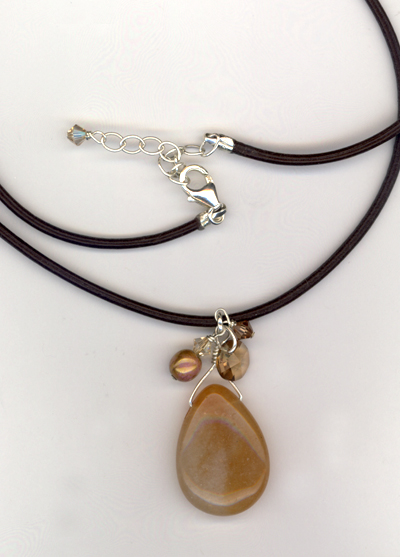butterscotch aventurine pendant necklace