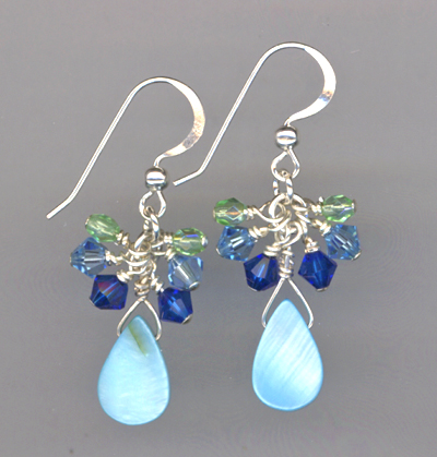 Ocean Blue Crystal Earrings