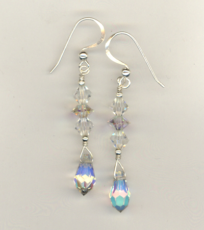 Crystal Sparkle Stack Earrings
