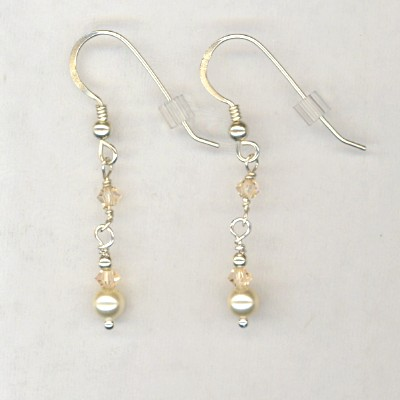 Silk Pearl Crystal Earrings