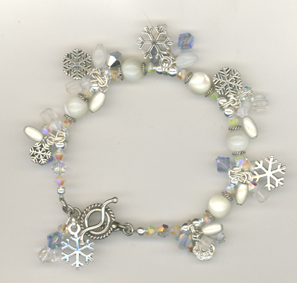 Let It Snow! Charm Bracelet