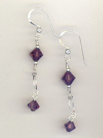 Amethyst Evening Crystal Earrings