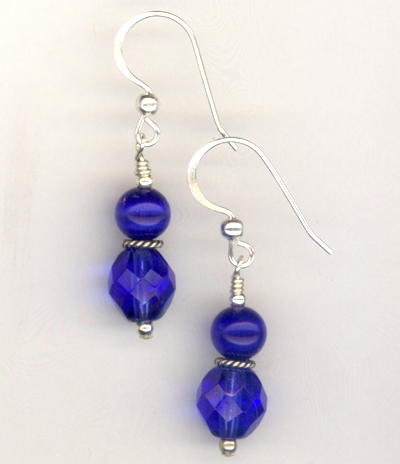 Saphirre Blue Sparkle Earrings