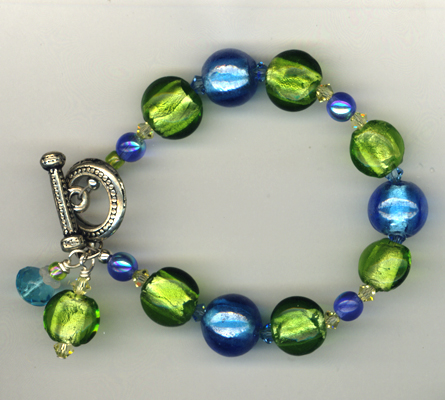 No Bad Days Lampwork Bracelet