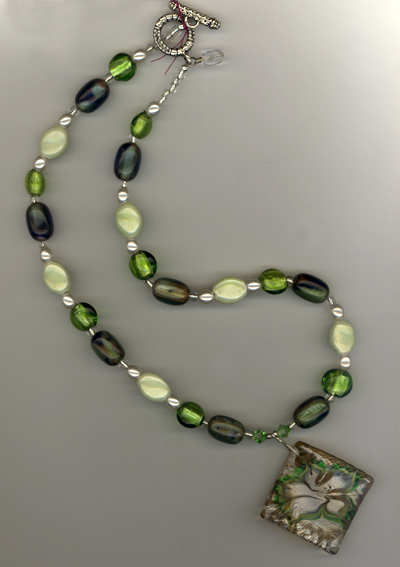 cool Breeze Art Glass Necklace