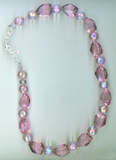 Pink Sparkle ~ Crystal Quartz Necklace