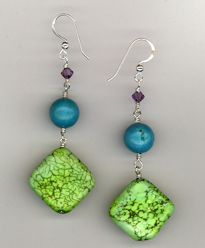 An Apple A Day ~ Gemstone Earrings