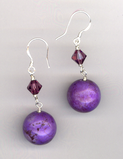 Purple Ice ~ Gemstone Earrings