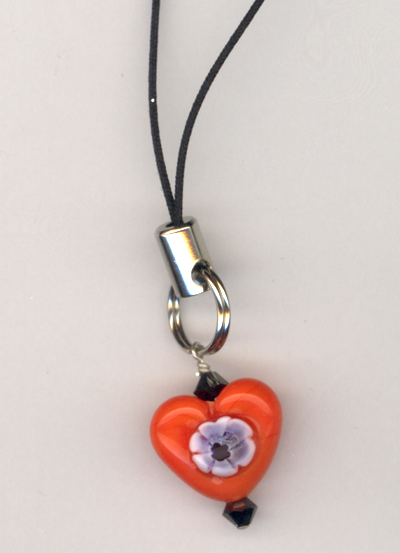 Flower Power Cell Phone Charm