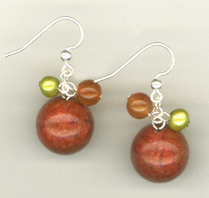 Summer Salsa Red Gemstone Earrings