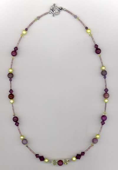 Purple Chiffon Gemstone Necklace