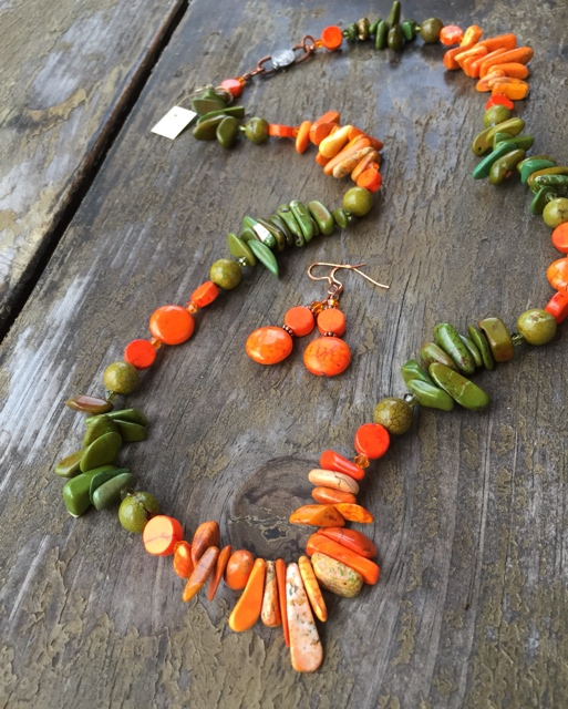 Pumpkin Harvest Turquoise Jewelry Set